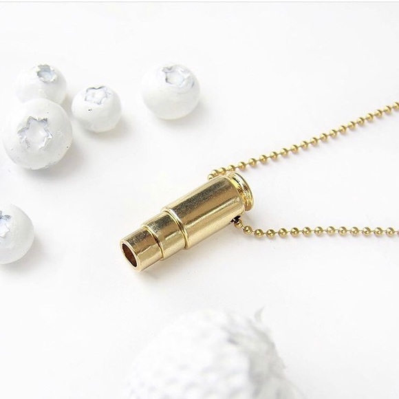 Half United Jewelry - Fighting Hunger Gold Bullet Necklace
